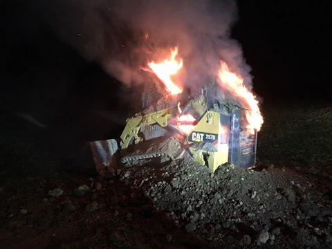 Skid Loader Fire – New Park Road