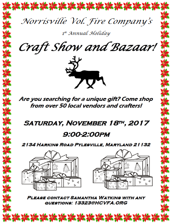1st Annual Holiday Craft Show and Bazaar!