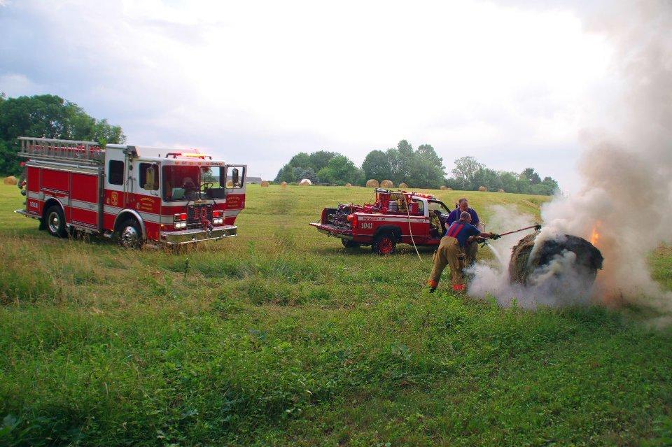 Field Fire / Hay Bale
